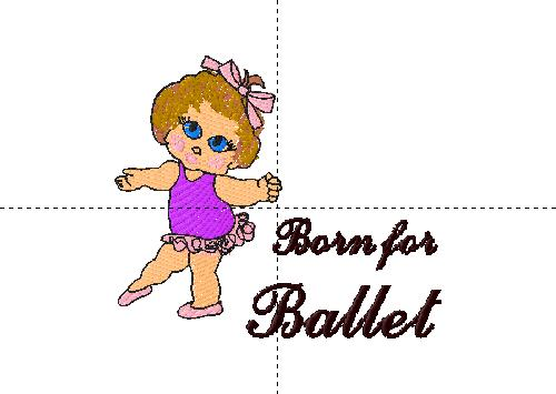 Cute toddler ballerina