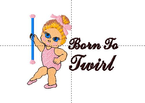 Cute toddler baton twirler